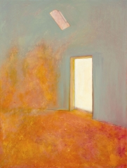 Meditation on a liminal space using colour and the metaphor of a doorway into the unknown.